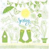 Wiosna Wektorowa kolekcja elementy dla projekta Ręka royalty ilustracja