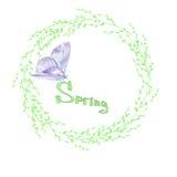 Wiosna wianek Obrazy Royalty Free