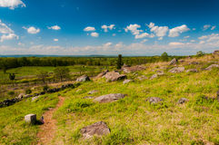 Wiosna widok od Małego Roundtop, Gettysburg, Pennsylwania Obraz Stock