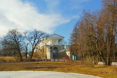 Wiosna wieczór w Tsarskoye Selo Fotografia Royalty Free