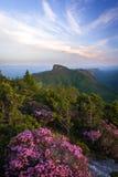 Wiosna wschód słońca W Błękitnej grani górze 2 obraz stock