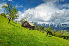 Wiosna wysokogórski krajobraz blisko Brasov, Transylvania, Rumunia, Europa Fotografia Royalty Free