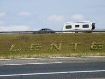 Wiosna zaczynał na autostradzie Fotografia Royalty Free