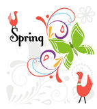 Wiosna zawijas ilustracja wektor