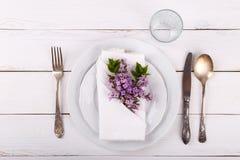 Wiosny świąteczny stołowy położenie obraz royalty free