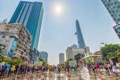 Wiosny światło słoneczne na zwyczajnej ulicie Saigon Zdjęcia Stock