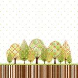 wiosny abstrakcjonistyczny drzewo Obrazy Stock