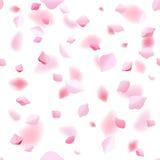 Wiosny abstrakcjonistyczny wektorowy tło z Sakura wiśni płatkami ilustracja wektor