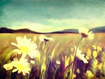 Wiosny akwareli kwiaty ilustracja wektor