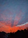 Wiosny czerwieni wschód słońca Zdjęcia Royalty Free