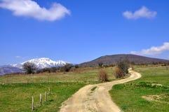 Wiosny góry droga obraz stock