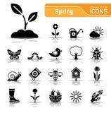Wiosny ikony set ilustracji