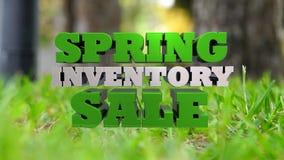 Wiosny Inwentarzowa sprzedaż - Wprowadzać na rynek i Reklamujący