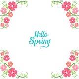 Wiosny Kwiecista Dekoruje rama royalty ilustracja