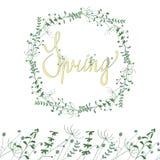 Wiosny kwiecista rama ilustracji