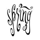 Wiosny literowanie Obraz Stock