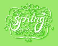 Wiosny literowanie, wektorowy tło Ilustracja Wektor