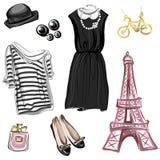 Wiosny moda w Paryż stylu royalty ilustracja