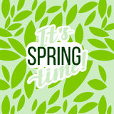 Wiosny motywaci Typograficzny plakat Teksta literowanie inspiracyjny saying Zdjęcia Stock