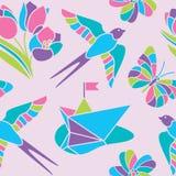 Wiosny mozaiki bezszwowy wzór Zdjęcie Royalty Free
