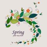 Wiosny natury tła rama Obrazy Royalty Free