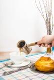 Wiosny śniadanie Zdjęcia Royalty Free