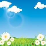 Wiosny nieba tło ilustracji