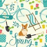 Wiosny ogrodnictwa backrgound ilustracja wektor