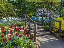 Wiosny ogrodowa droga przemian Zdjęcie Royalty Free