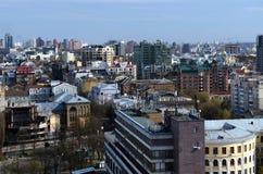 Wiosny panorama Kijowski linia horyzontu od bird& x27; oko widok fotografia royalty free