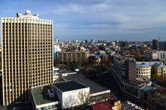 Wiosny panorama Kijowski linia horyzontu od bird& x27; oko widok obrazy royalty free