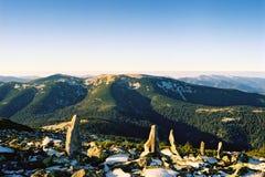 Wiosny panorama lasowy jezioro zdjęcia stock