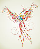 Wiosny Pheonix ptaka tekstura ilustracji