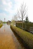 Wiosny powódź, Białoruś Fotografia Royalty Free