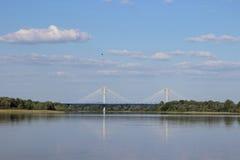 Wiosny powódź na rzece Obrazy Royalty Free