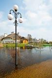 Wiosny powódź, Białoruś Fotografia Stock