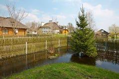 Wiosny powódź, Białoruś Zdjęcia Royalty Free