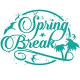 Wiosny przerwy znaczek odizolowywający na bielu Fotografia Stock