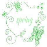 Wiosny rama royalty ilustracja