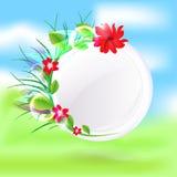 Wiosny round szkło wektor Obrazy Royalty Free