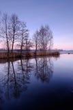 Wiosny rzeka i krajobraz Zdjęcie Royalty Free