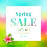 Wiosny sprzedaż ilustracja wektor
