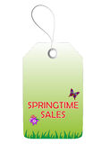 Wiosny sprzedaży etykietka Zdjęcie Stock
