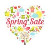 Wiosny sprzedaży serce ilustracja wektor