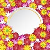 Wiosny sprzedaży sztandar z kwiatami tapetuje sztuki pojęcie Obrazy Stock