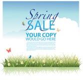 Wiosny sprzedaży tła szablon. Royalty Ilustracja