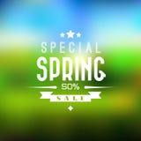 Wiosny sprzedaży tło Obraz Stock