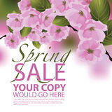 Wiosny sprzedaży tło Ilustracji