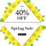 Wiosny sprzedaży tło z pięknym kwiatem, wektorowy illustratio Fotografia Royalty Free