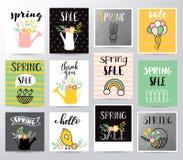 Wiosny sprzedaży wektoru ilustracja ilustracja wektor